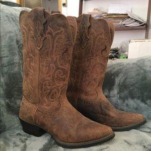 Justin McKayla Tan Women's Stampede Western Boots